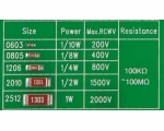 Thick film high voltage chip resister